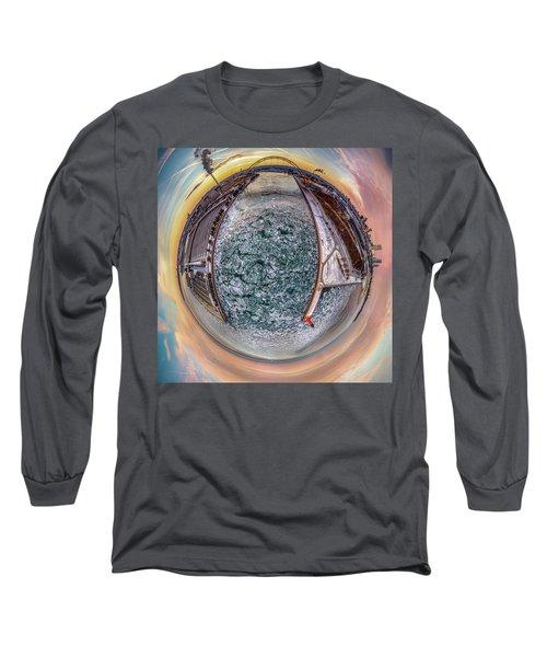 Milwaukee River Little Planet Long Sleeve T-Shirt