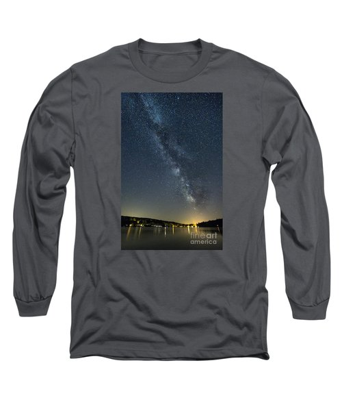 Milky Way From A Pontoon Boat Long Sleeve T-Shirt by Patrick Fennell