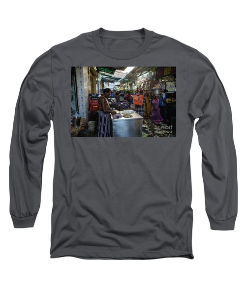 Long Sleeve T-Shirt featuring the photograph Mincing Garlic by Mike Reid