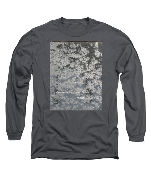 Mind Of Winter Long Sleeve T-Shirt by Deborah Dendler