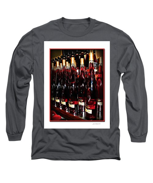 Long Sleeve T-Shirt featuring the photograph Miner Pink Sparkling Wine by Joan  Minchak