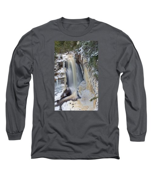 Miners Falls In The Snow Long Sleeve T-Shirt