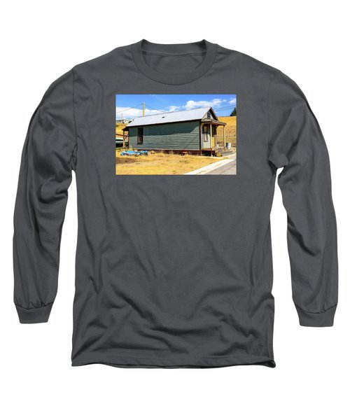 Miners Shack In Montana Long Sleeve T-Shirt by Chris Smith