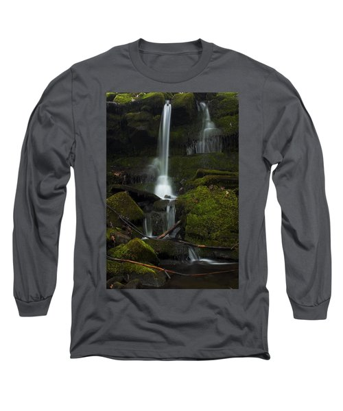 Mini Waterfall In The Forest Long Sleeve T-Shirt