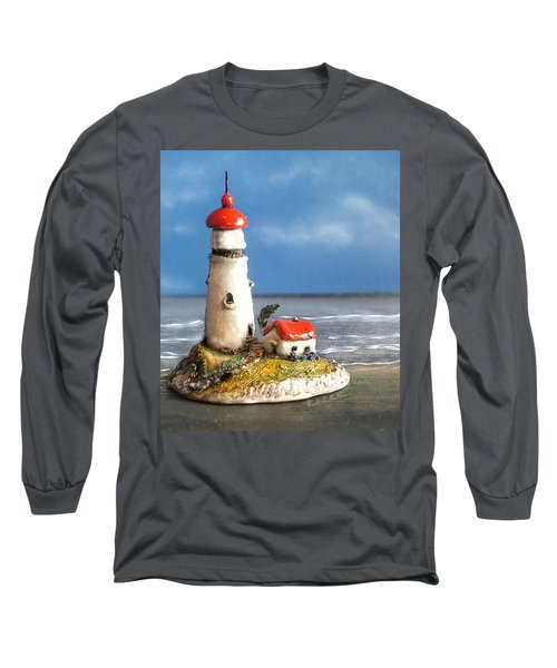 Miniature Lighthouse Long Sleeve T-Shirt by Wendy McKennon