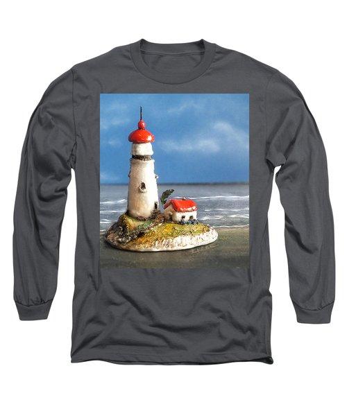 Miniature Lighthouse Long Sleeve T-Shirt