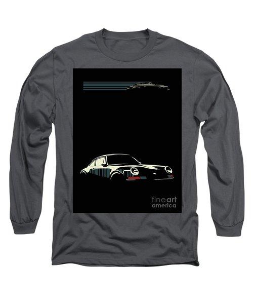 Minimalist Porsche Long Sleeve T-Shirt