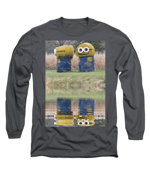 Minions In A Reflection Pool Long Sleeve T-Shirt