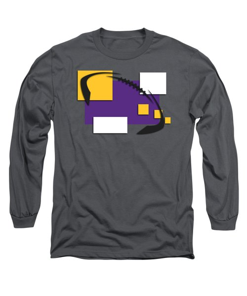 Minnesota Vikings Abstract Shirt Long Sleeve T-Shirt