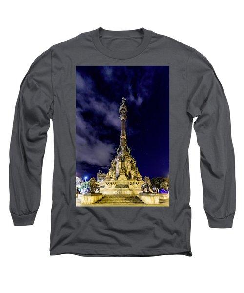 Mirador De Colom Long Sleeve T-Shirt by Randy Scherkenbach