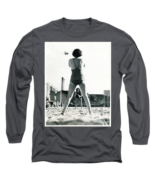 Long Sleeve T-Shirt featuring the photograph Miramar Pool, 1932 by Cole Thompson