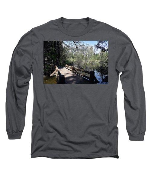 Mirror Lake At Yosemite National Park Long Sleeve T-Shirt