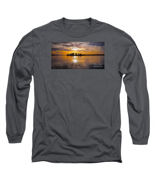Mission Bay Purple Sunset By Jasna Gopic Long Sleeve T-Shirt by Jasna Gopic