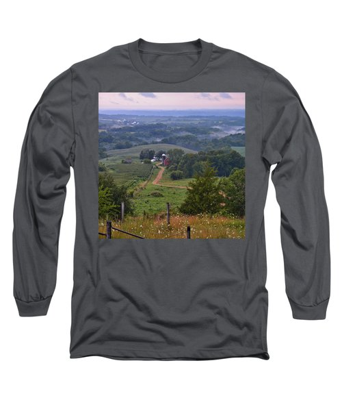 Mississippi River Valley 2 Long Sleeve T-Shirt by Bonfire Photography