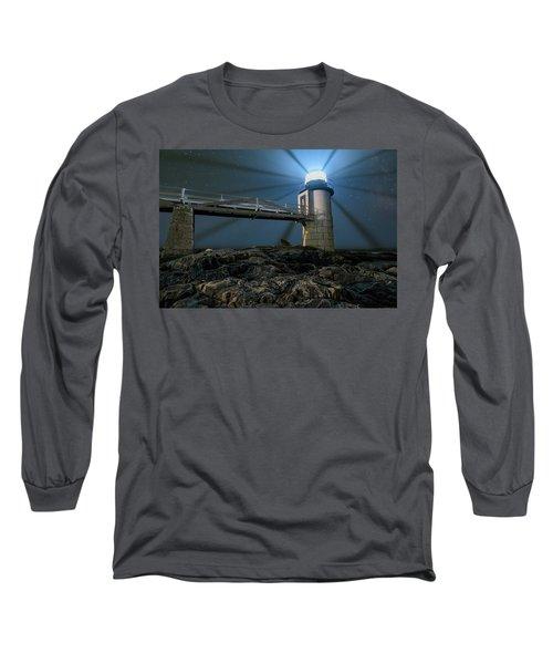 Mist At Marshall Point Light Long Sleeve T-Shirt