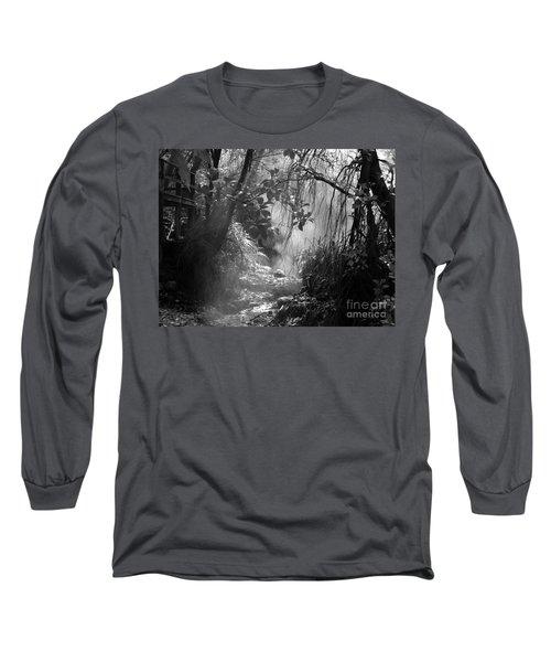 Mist In The Jungle Long Sleeve T-Shirt by Susan Lafleur
