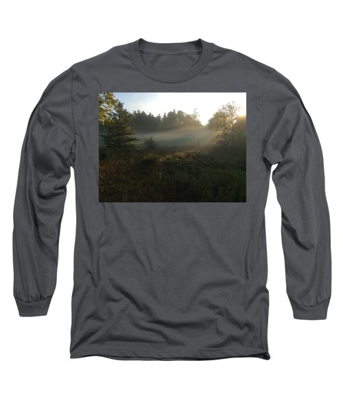 Mist In The Meadow Long Sleeve T-Shirt by Pat Purdy