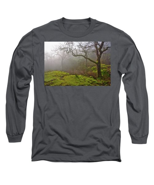 Misty Forest Long Sleeve T-Shirt by Keith Boone
