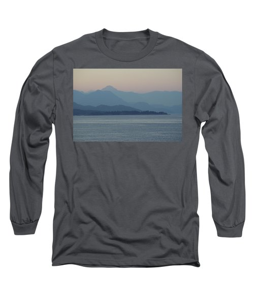 Misty Hills On The Strait Long Sleeve T-Shirt