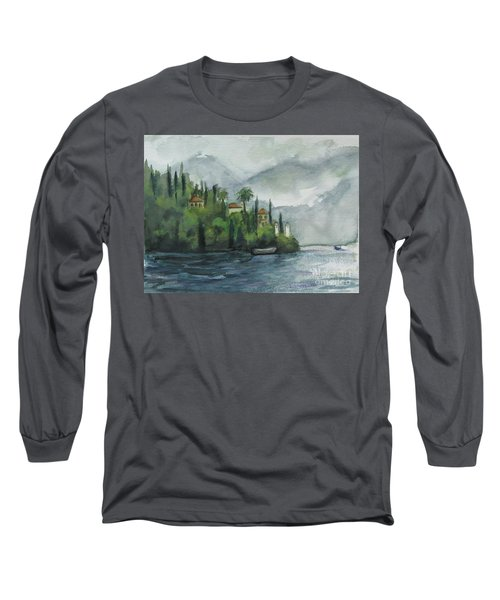 Misty Island Long Sleeve T-Shirt by Laurie Morgan