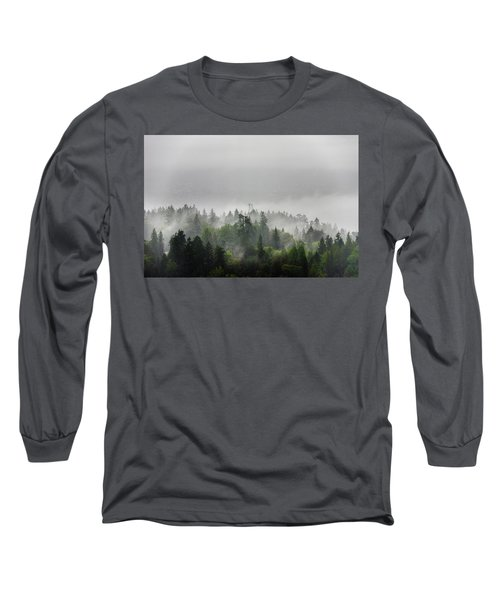 Misty Lions Gate View Long Sleeve T-Shirt by Ross G Strachan