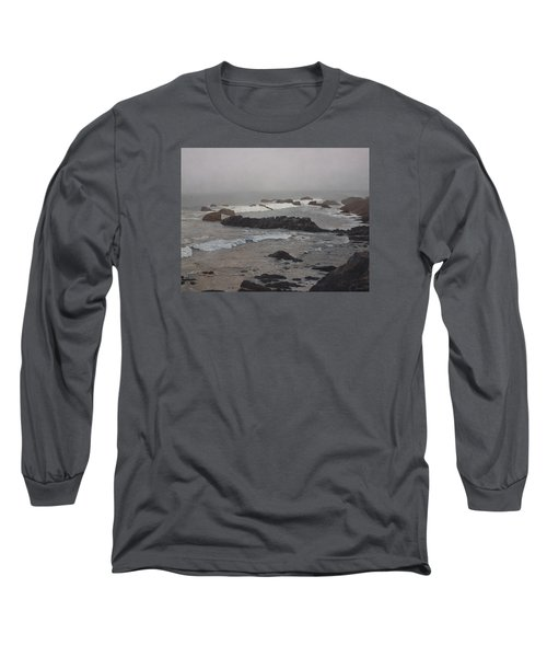 Misty Morning At Ragged Point, California Long Sleeve T-Shirt