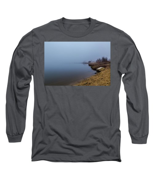 Misty Morning By The Lake Long Sleeve T-Shirt