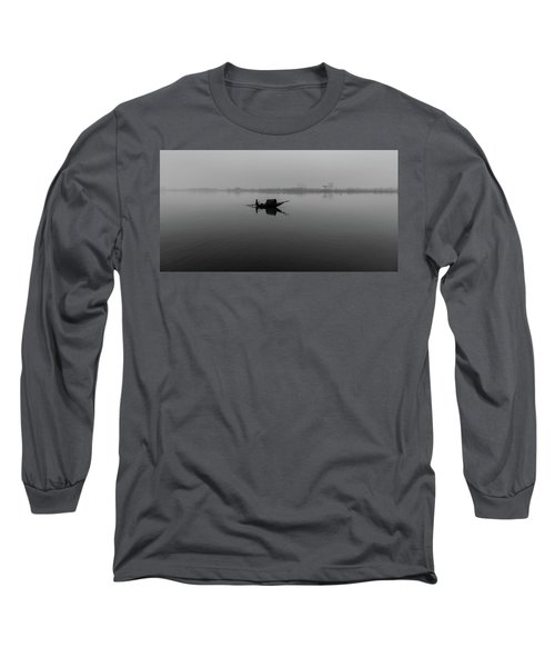 Long Sleeve T-Shirt featuring the photograph Misty Morning On The Lower Ganges by Chris Cousins