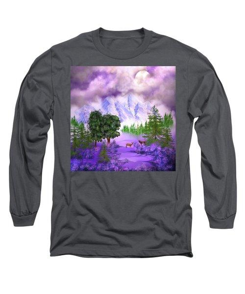 Misty Mountain Deer Long Sleeve T-Shirt