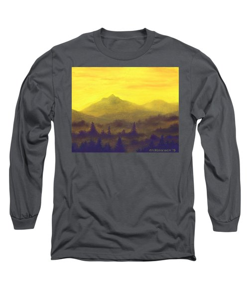 Misty Mountain Gold 01 Long Sleeve T-Shirt