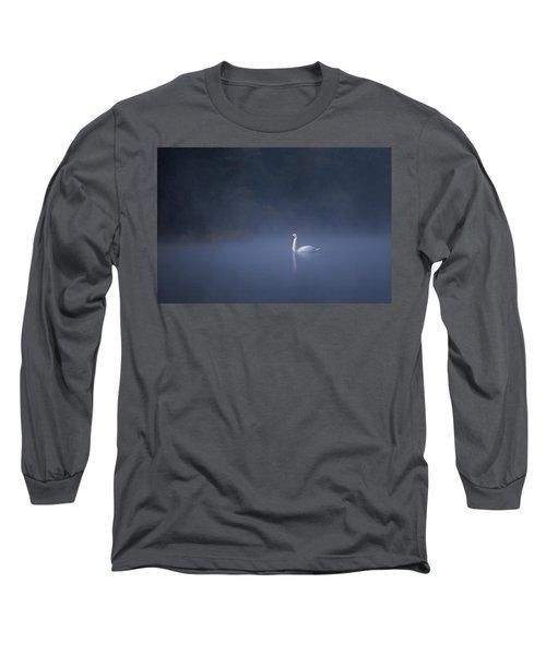 Misty River Swan Long Sleeve T-Shirt