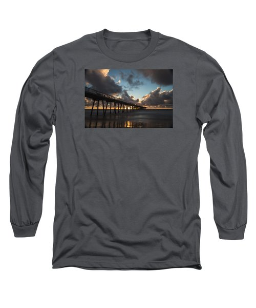 Misty Sunset Long Sleeve T-Shirt by Ed Clark