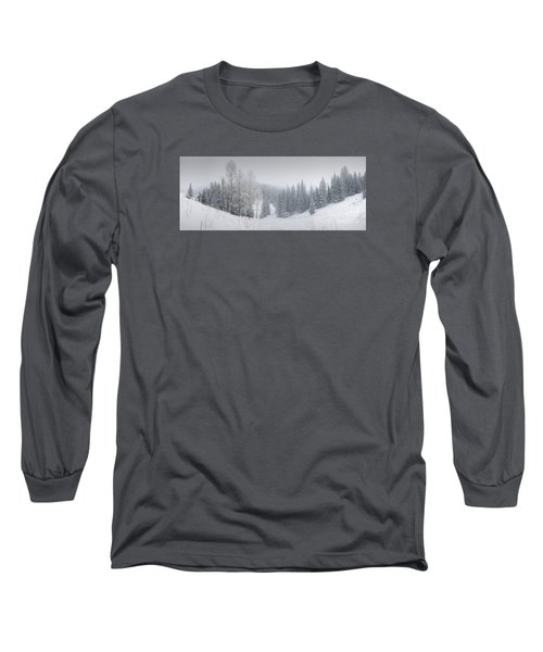 Misty Winter Panorama Long Sleeve T-Shirt