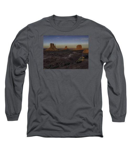 Mittens Morning Greeting Long Sleeve T-Shirt by Rob Wilson