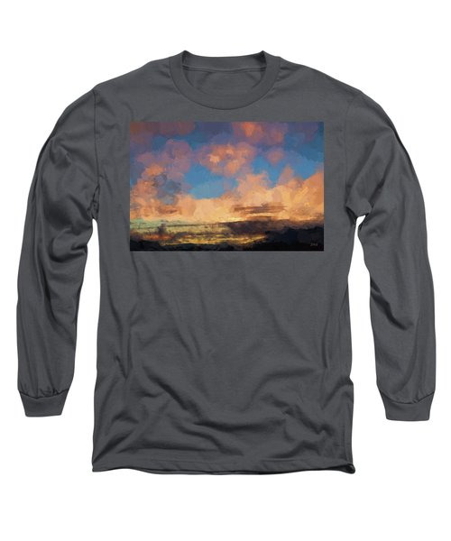 Moab Sunrise Abstract Painterly Long Sleeve T-Shirt by David Gordon