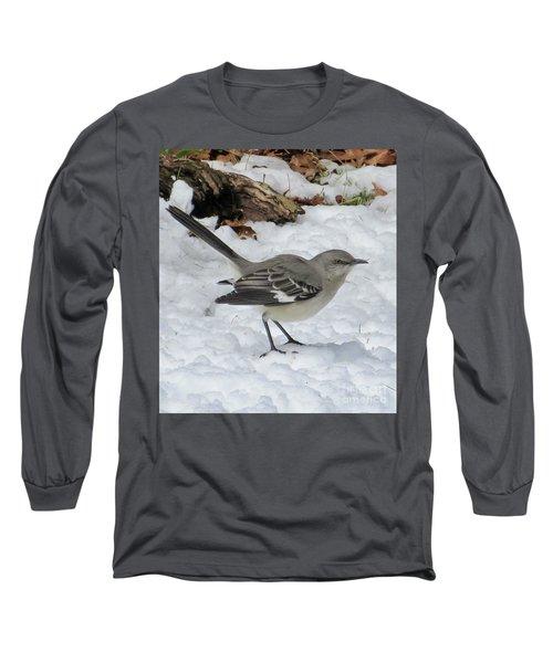 Mockingbird In The Snow Long Sleeve T-Shirt