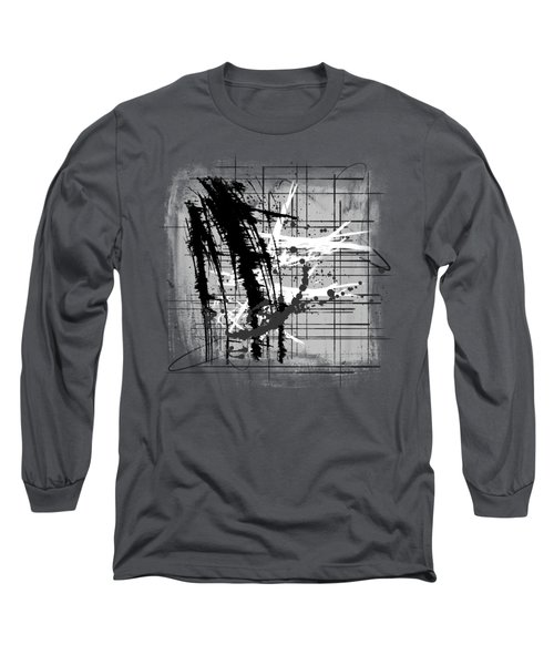 Modern Black And White 2 Long Sleeve T-Shirt