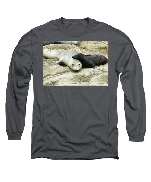 Long Sleeve T-Shirt featuring the photograph Mom And Pup by Anthony Jones