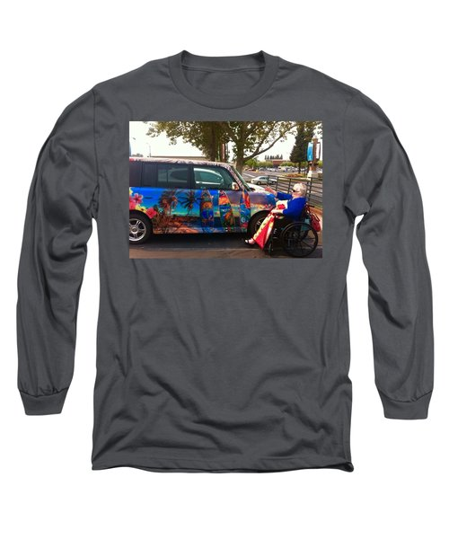 Mom Loves Surf Car Long Sleeve T-Shirt