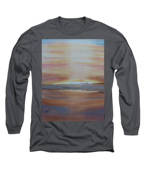 Long Sleeve T-Shirt featuring the painting Moment By The Lake by Joel Deutsch