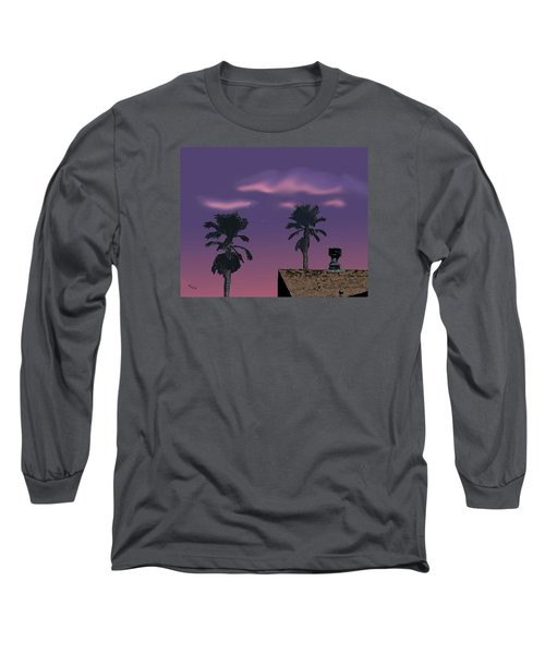 Long Sleeve T-Shirt featuring the digital art Mom's House by Walter Chamberlain