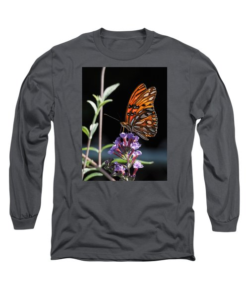 Monarch On Butterfly Bush Long Sleeve T-Shirt