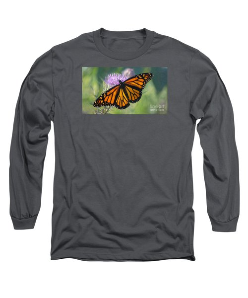 Monarch's Beauty Long Sleeve T-Shirt by Rima Biswas
