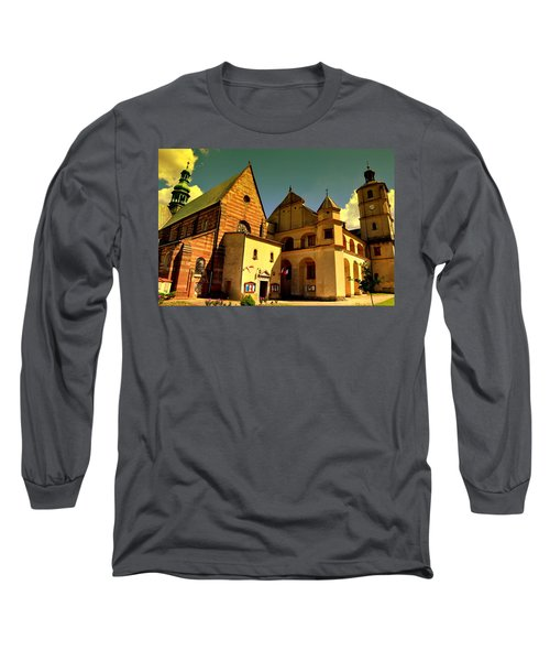Monastery In The Wachock/poland Long Sleeve T-Shirt
