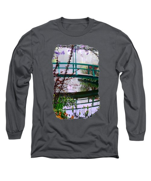 Long Sleeve T-Shirt featuring the photograph Monet's Bridge by Jim Hill