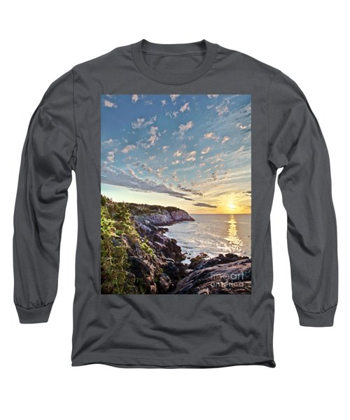Long Sleeve T-Shirt featuring the photograph Monhegan East Shore by Tom Cameron
