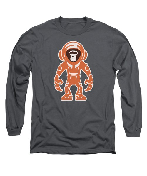 Monkey Crisis On Mars Long Sleeve T-Shirt