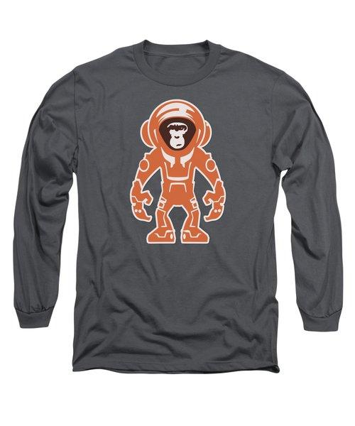 Monkey Crisis On Mars Long Sleeve T-Shirt