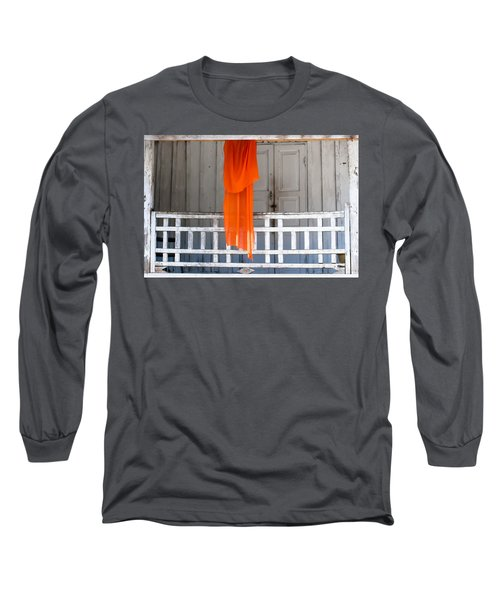 Monk's Robe Hanging Out To Dry, Luang Prabang, Laos Long Sleeve T-Shirt