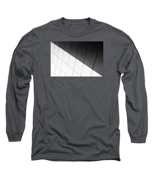 Monochrome Building Abstract 3 Long Sleeve T-Shirt by John Williams